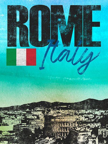 Rome Italië van Printed Artings