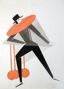 Skizze (Sammlung Lobanov-Rostovsky) 02, Aleksandra Elster, 1924