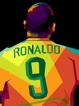 Ronaldo Brazil popart von miru arts