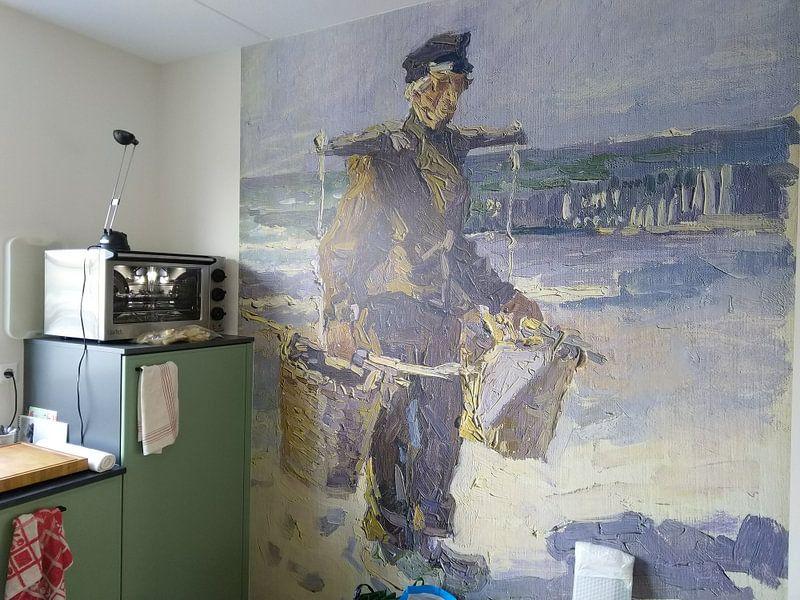 Klantfoto: De schelpenvisser, Jan Toorop van Hollandse Meesters, op behang