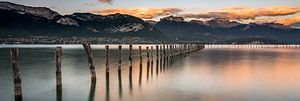 Panorama van het Meer van Annecy van