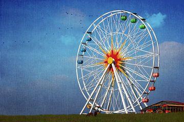 Riesenrad im Freizeitpark van Heike Hultsch