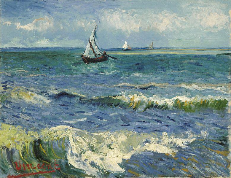 Seenlandschaft in der Nähe von Les Saintes-Maries-de-la-Mer - Vincent Van Gogh von 1000 Schilderijen