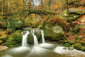 Schiessentümpel waterval in Luxemburg van Michael Valjak