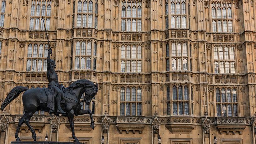 Reiterstandbild vor den Houses of Parliament von Eddie Meijer