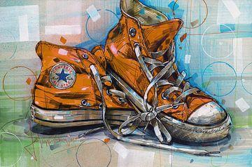 Converse All Stars-Gemälde von Jos Hoppenbrouwers