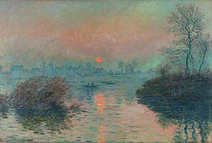 Sonnenuntergang an der Seine bei Lavacourt, Claude Monet