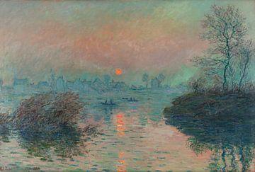 Zonsondergang op de Seine bij Lavacourt, Claude Monet van