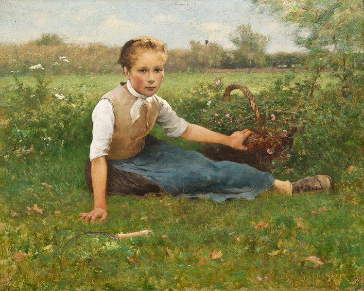 Blumen pflücken, Hugo Salmson von Meesterlijcke Meesters