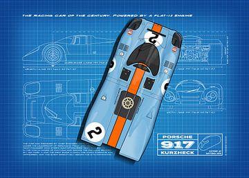 917 Daytona 1970 Blauwdruk van Theodor Decker