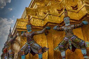 Beelden bij tempel Bangkok van