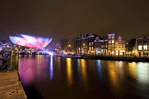 Amsterdam light festival in Nederland bij nacht