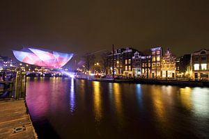 Amsterdam light festival in Nederland bij nacht van