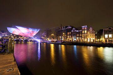 Amsterdam light festival in Nederland bij nacht von Nisangha Masselink