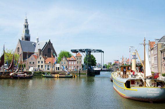 Historische havenkom Maassluis van Maurice Verschuur
