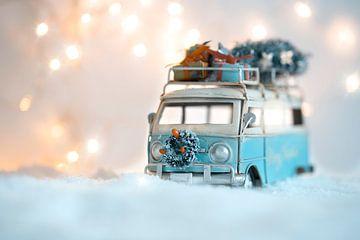 VW busje in kerst van Kristof Ven
