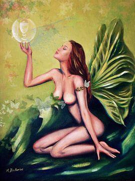 Grüne Absinthfee von Marita Zacharias