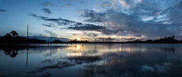 Lever du soleil au lac de Brokopondo