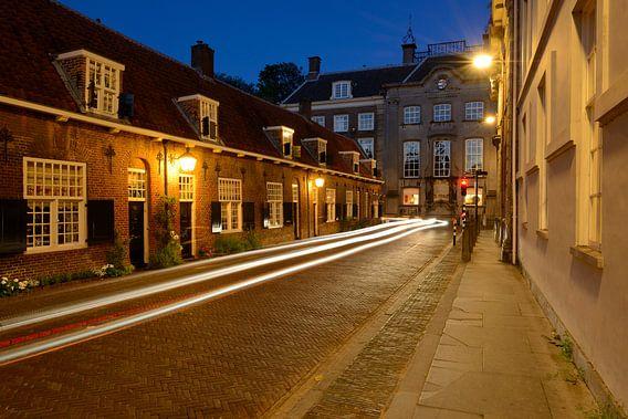 Lange Nieuwstraat met de Beyerskameren in Utrecht van Donker Utrecht