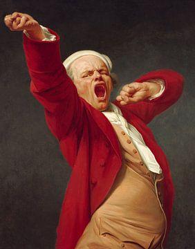 Zelfportret, Geeuwend, Joseph Ducreux - 1783 sur