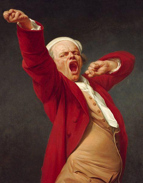 Selbstporträt, Gähnen, Joseph Ducreux - 1783 von Het Archief