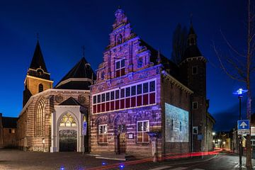 Le musée de la ville (Stedehuys) et le Petruskerk, Woerden sur