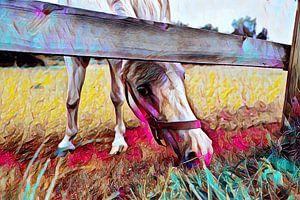 Pferd auf der Wiese Malerei