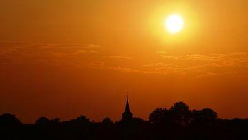 Zonsondergang in Friesland van R. Khoenie