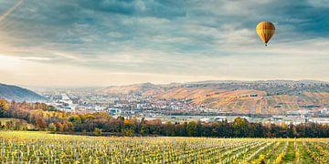 Uitzicht op het Neckardal van Esslingen naar Stuttgart - Panorama van Jürgen Neugebauer | createyour.photo