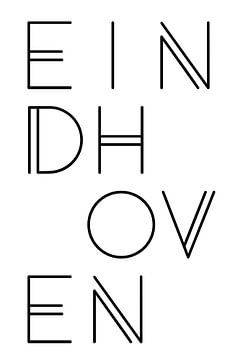 Stadsmotief Eindhoven Typo van Kim Karol / Ohkimiko