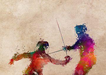 Fechtsport Kunst #Fechten #Sport von JBJart Justyna Jaszke
