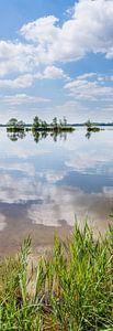 Staand panorama van de Wijde Blik, Kortenhoef, Wijdemeren, Nederland