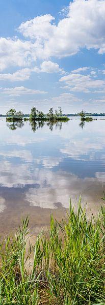 Staand panorama van de Wijde Blik, Kortenhoef, Wijdemeren, Nederland van Martin Stevens