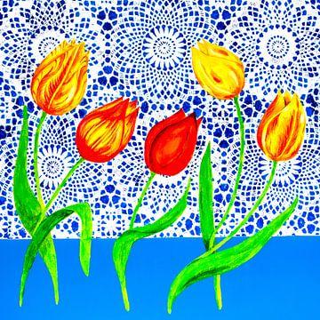 tulipes hollandaises sur Lida Bruinen
