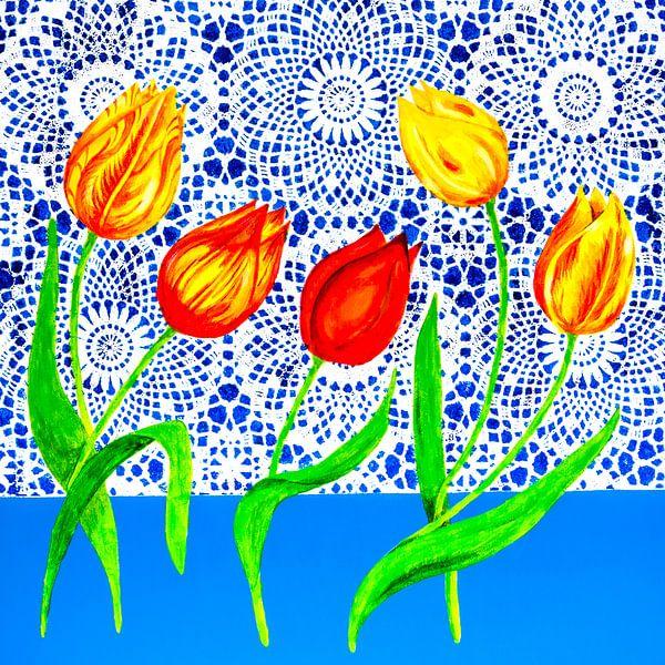 Hollandse tulpen van Lida Bruinen