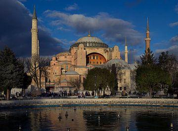 Hagia Sophia Istanbul in der Wintersonne von Maurits van Hout
