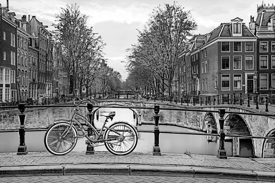 Grafisch Amsterdam Keizersgracht van Dennisart Fotografie