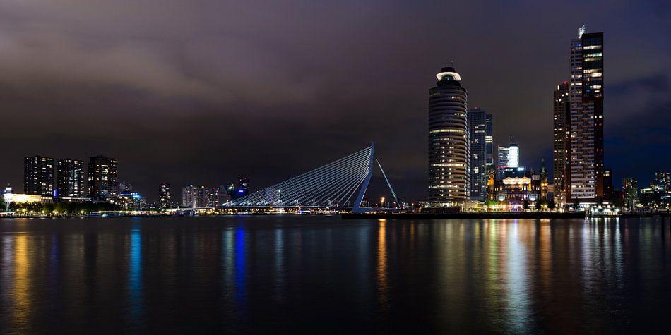 Rotterdam by night, panorama