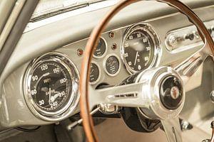 Interieur van een Maserati A6G 2000 Italiaanse coupe GT-auto