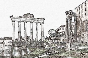Forum Romanum Rom, Italien von Gunter Kirsch