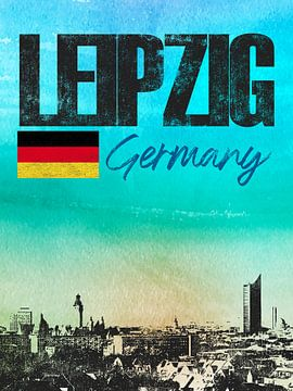 Leipzig Allemagne sur Printed Artings