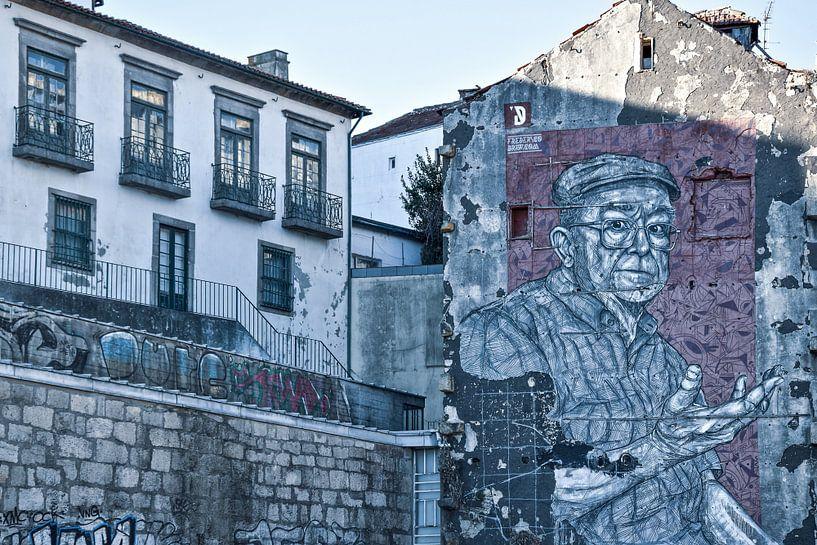 Streetart Porto van Justin Travel