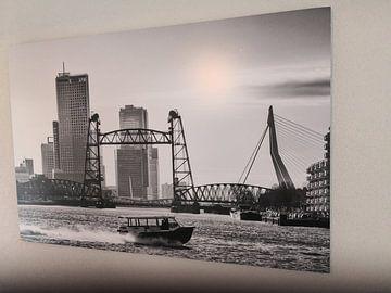 Kundenfoto: 3 Rotterdamer Brücken (schwarz-weiß) von Rick Van der Poorten