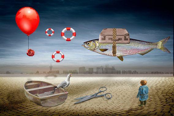 Ein Fisch auf Reisen van Ursula Di Chito