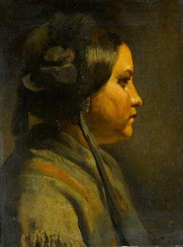 Studie über den Kopf einer jungen Frau im Profil, Matthijs Maris