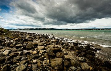 Kustlijn van Whitianga, Nieuw Zeeland van Ricardo Bouman