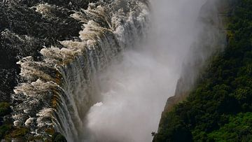 Watermassa's storten neer op Victoria Falls