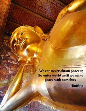 Thaise liggende Buddha van Misja Vermeulen