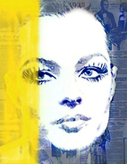 Romy Schneider Yellow Vintage