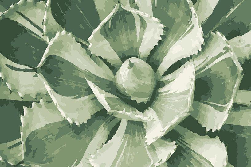 Sukkulente in hellen Grüntönen von Studio Maria